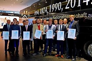 Der BTGA ehrte die besten Auszubildenden der TGA-Branche 2015 im Deutschen Fußballmuseum in Dortmund. .  (Foto: ja / BTGA e.V.)