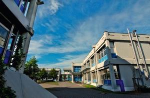 Fotocollage des Campus in Steinfurt mit dem Fachbereich Energie, Gebäude, Umwelt