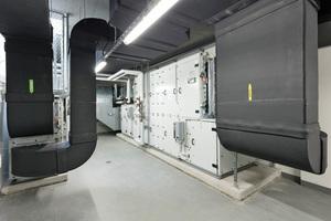 Mensa und Küche, Nebenräume und Sanitärzellen sowie Lagerräume und Nebenräume im EG verfügen über separate Lüftungsanlagen.