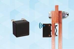 """Der energieautarke """"mNODE""""-Sensor überwacht Temperaturen in Schaltschränken und hilft Unfälle und Betriebsunterbrechungen im Vorfeld zu verhindern."""
