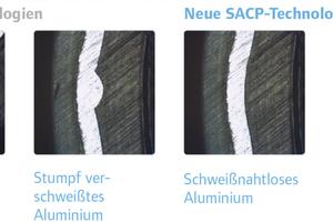 Das nahtlos extrudierte Aluminiumrohr verhindert das Eindringen von Sauerstoff und kompensiert Rückstellkräfte und Längenausdehnung.