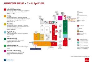 Das Messegelände zur Hannover Messe 2014