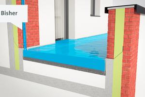 Nicht zulässig: Die bisher oft praktizierte Entwässerung auf tiefer liegende Dach- und Terrassenflächen.