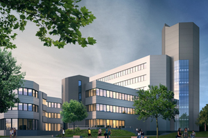 Sanierung der Universität Siegen Campus Adolf-Reichwein-Straße. Mit den Ingenieurleistungen der Gebäudetechnik für alle Leistungsphasen wurde Bohne Ingenieure betraut.