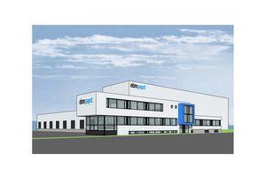 Im Frühjahr 2013 soll das neue ebm-papst Logistikzentrum (hier in Planungsansicht) fertig gestellt sein.