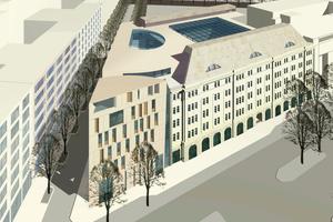 Neubau des Bundesumweltministeriums, Berliner Dienstsitz an der Stresemannstraße, Fertigstellung 2011<br />