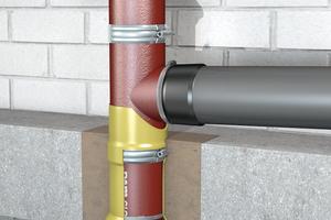 Einbau der Steck-Verbindung-Brandschutz SVB mit abZ Z.Nr. 19.17-2130 in die gusseiserne Fallleitung