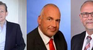 Regionalverkaufsleiter Nord Michael Schmiedel, Regionalverkaufsleiter Süd Martin Schretzmeier und Vertriebsberater Westfalen/Nordhessen Thomas Schmidt