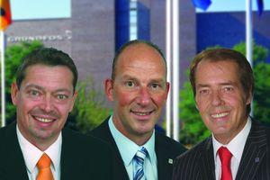 Die neue Grundfos Führungsmannschaft für die Gebäudetechnik (v.r.n.l.): Hermann W. Brennecke, Frank Wiehmeier und André Schweitzer