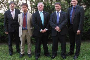Der neue AREA-Vorstand (v.l.): Philippe Roy, Marco Buoni, Peter Bachmann, Graeme Fox und Per Jonasson