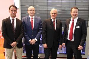 v.l.n.r: Lars Brunken (KLK-Geschäftsführer), Cornelis de Haas (KLK-Projektleiter), Jürgen Steinbach (KLK-Geschäfstführer), Sven Schwarze (KKU Concept-Geschäftsführer)