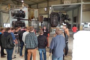 Mit dem Besuch bei Aco in Stadtlengsfeld startete die Exkursion: Dort wurde u.a. die Produktion besichtigt<br />