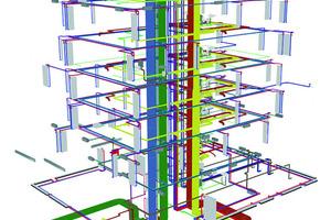 Einfügen der Leitungen in das Gebäudemodell<br />