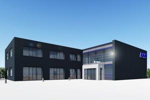 Visualisierung des Neubaus für die EAN Energieanlagen Nord GmbH in Neubrandenburg  (Visualisierung: Goldbeck)