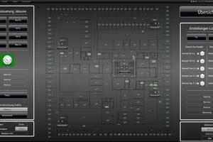 Die Technik von insgesamt 500 Räumen läuft in der XAMControl-Software zusammen. Übergeordnete Parameter wie die Lüftung oder die Jalousienstellung kann der Gebäudeleiter so von einer von zwölf Bedienstationen aus regulieren oder vorprogrammieren.