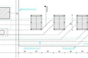 """<div class=""""grafikueberschrift"""">Kleines Wellental</div>Im kleinen Wellental konnten die drei Notentwässerer und der Hauptentwässerer pro Seite aus Platzgründen nur in Linie angeordnet werden"""