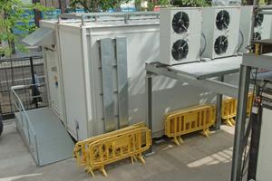 Das Datacenter ist in mobilen Containern untergebracht.