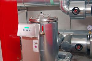 Die Filter- und Entsalzungsanlage schützt die Anlage vor Ablagerungen und Korrosion.