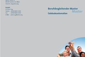 Der Fachverband Automation+<br />Management für Haus+Gebäude (AMG) im VDMA bewirbt das neue Studienangebot mit einem Flyer.