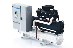 """Wassergekühlte Kaltwassersatz-Serie """"EWWD-VZ"""" bietet ESEER-Werte im Teillastbetrieb von bis zu 8,3."""