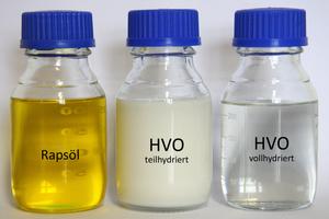 Hydriertes Pflanzenöl (HVO) hat ähnliche Eigenschaften wie Heizöl.