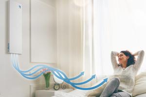 """Mit dem """"Premium Cover"""" ist das Lüftungsgerät """"freeAir 100"""" so leise, dass es selbst in Schlafräumen allerhöchsten Ansprüchen gerecht wird.<br />"""