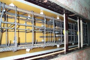 Bild 5: Ableitung im Bewehrungskorb der Konstruktionsstütze<br />