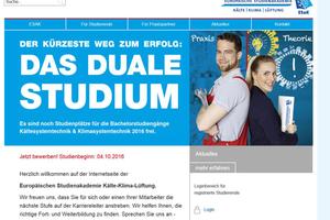 Die Europäische Studienakademie Kälte-Klima-Lüftung hat ihren Internet-auftritt erneuert.