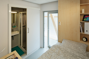 Für jeden der zwölf zukünftigen Bewohner steht eine Wohnzelle zur Verfügung.<br />
