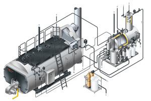 """Vitomax"""" Hochdruck-Dampferzeuger liefern bis zu 26 t Dampf pro Stunde; Viessmann bietet dazu auch die komplette Anlagentechnik aus einer Hand<br />"""