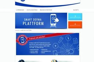 "Landingpage der ""Smart-Doyma""-Plattform"