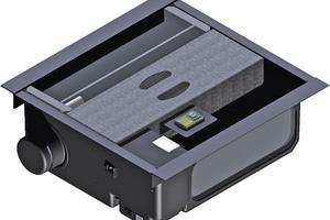 Jede Ventilatorkassette (LECU) besteht aus einem Gebläse, einer beweglichen Luftklappe und einem Regler.