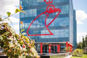 Das Energie-Plus-Haus am Stammsitz von Werner & Mertz in Mainz