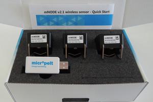 """Zum Testen und Evaluieren – das """"mNODE""""-Evaluation-Kit mit Funkempfänger und Auswertungssoftware """"Scope"""""""