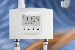 """Der """"Wtrans E01"""" von Jumo misst Feuchte, Temperatur und den CO<sub>2</sub>-Gehalt."""