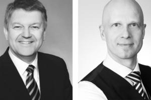 Alexander Geißels (links), Leiter Isover Akademie und Christopher Brennecke, Leiter Isover Marketing