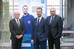 Die Geschäftsführung der Dresdner Kühlanlagenbau GmbH (DKA) (v.l.n.r.): Andreas Thuss, Michael Bade und Dirk Nießen.
