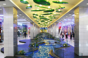 Die Shopping Mall zeichnet sich durch ihre offene Bauweise aus<br />