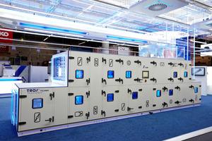 """Trox präsentierte erstmalig den Prototypen des RLT-Gerätes """"X-CUBE"""" auf der diesjährigen ISH"""