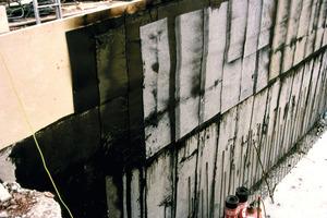 Bild 3: Bitumenbahnen als Abdichtung