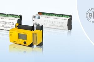 """Bildunterschrift: Die modulare Systemfamilie """"EY-modulo"""" erhielt die Zertifizierung gemäß ISO 16484-6 und BACnet-Testplan 12 sowie das eu.bacCert-Label der Energieeffizienzklasse A+."""