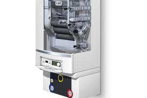 """Herzstück des Gas-Brennwert-Gerätes """"Logamax plus GB162-100"""" ist der kompakt konstruierte Aluminium-Wärmetauscher."""