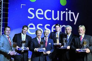 """Die Preisträger des zum ersten Mal verliehenen """"Security Innovation Award"""""""