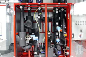 Elektro-hydraulische Kompaktstation des Gegenstromschichtwärmetauscher (GSWT)-Systems mit Pumpen und Armaturenbaugruppe