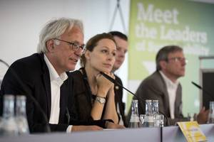 Eröffnungspressekonferenz mit Prof. Alexander Rudolphi, Präsident DGNB,  und Dr. Christine Lemaitre, Geschäftsführerin DGNB