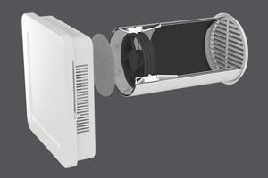 """Der """"Aerotube AZ smart"""" ist wahlweise als Zu- oder Abluftgerät einsetzbar."""