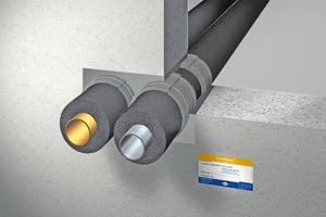 """Abschottung von nichtbrennbaren Kälteleitungen: """"Curaflam Rollit ISO<sup>Pro</sup>""""<sup>-</sup>Brandschutzwickelband"""