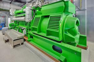 Ein zusätzliches BHKW mit einer Leistung von 2,4 MW<sub>th</sub> und 2,6 MW<sub>el</sub> komplettiert das Energiekonzept.