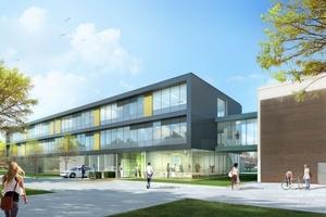 """Neubau für das Forschungszentrum """"LENA"""" – """"Laboratory for Emerging Nanometrology"""" der Technischen Universität Braunschweig   (Visualisierung: ArGe RKW / Meyer GbR - RKW Architektur+Städtebau / Meyer Architekten)"""