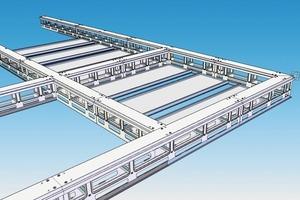 Konstruktiver Entwurf des Gesamtsystems: Zur Verstärkung der Raumluftzirkulation wurden die Akustikplatten mit Abständen zueinander montiert.<br />